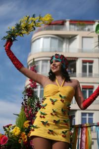 Květinové bitvy v Nice.