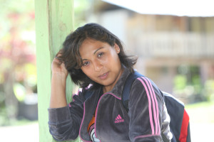 Veronika z družstva Naranjillo v Tingo Maria.