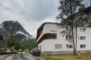 Původní Haus Lün posloužil jako základ pro dnešní Hotel Lün v Brandu.