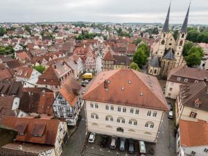 Výhled z Věže do Bad Wimpfenu.