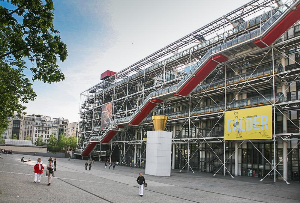 Centre Pompidou takvej divnej barák, plnej krásnejch obrazů.
