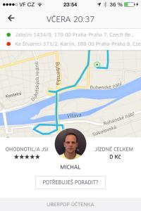 MIchal byl skvělý řidič a společník, i když jízda trvala jen něco málo přes šest minut.