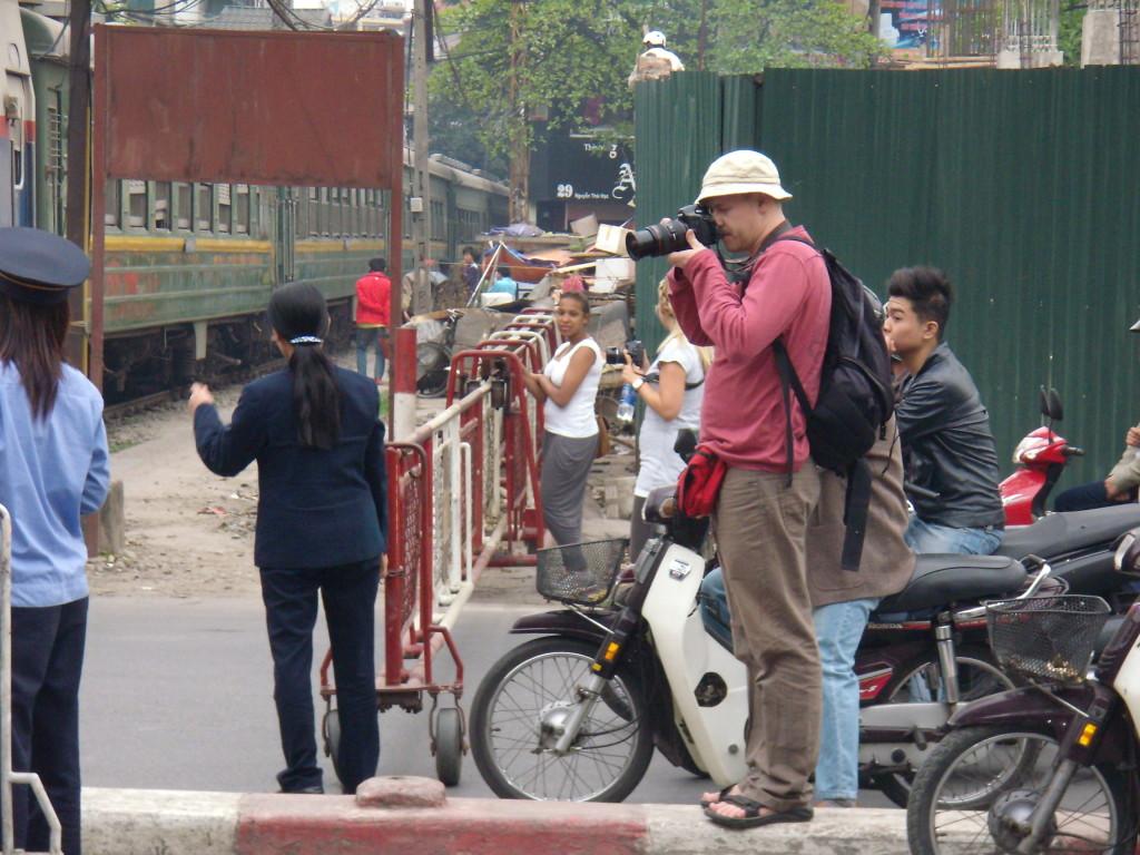 I ve Vietnamu jsem fottil s velkou zrcadlovkou a tedy s velkým batohem na zádech.