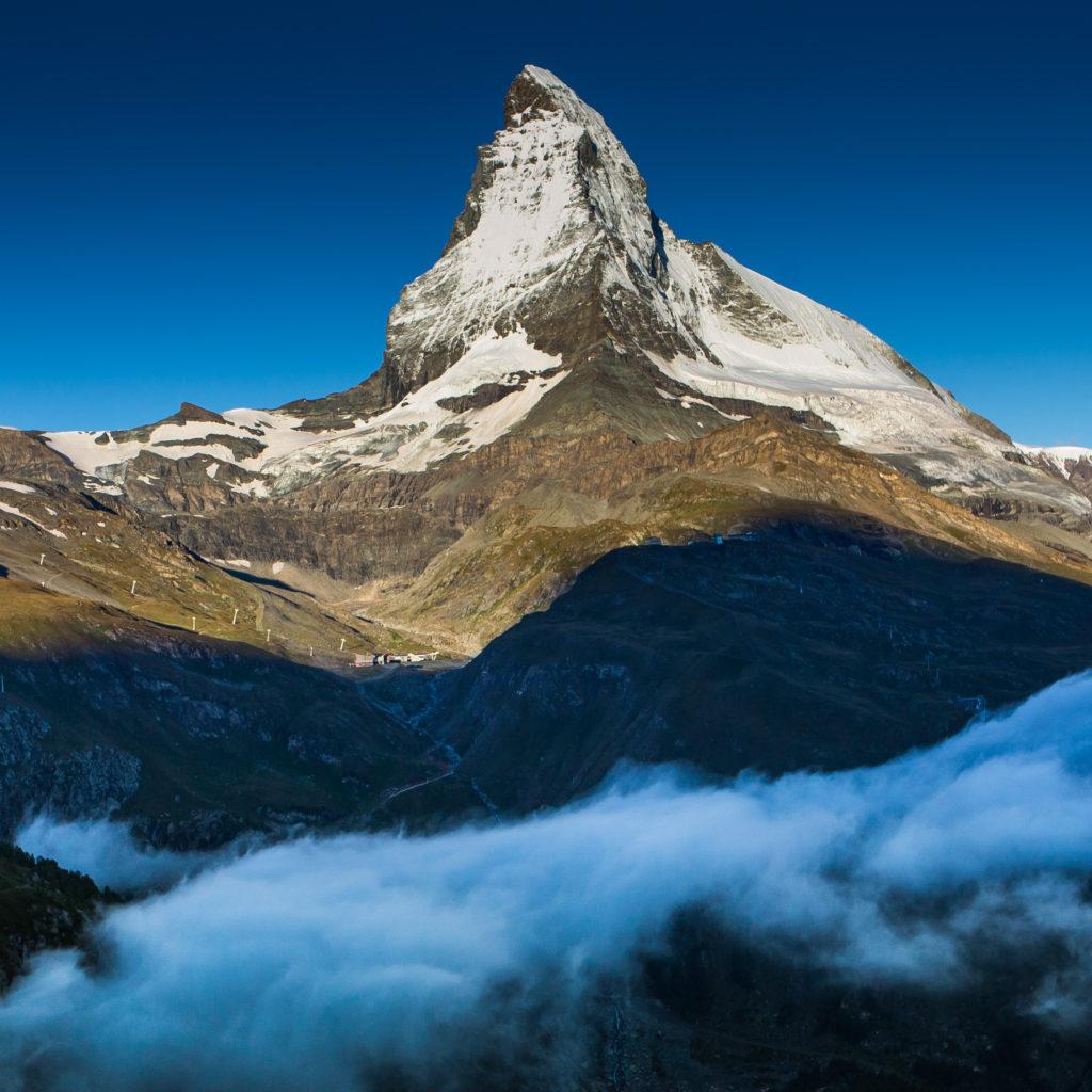 Švýcarská hora Matterhorn.