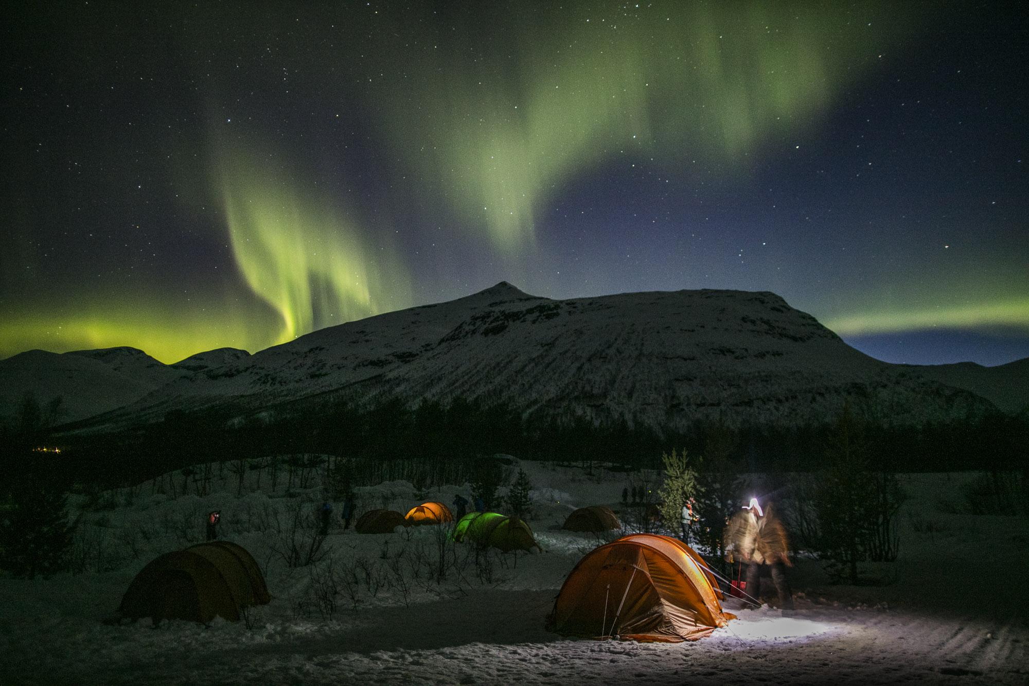 Severská příroda čaruje i v noci.