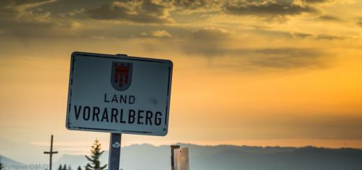 Hranice Vorarlberska a Německa v Brgenzském lese.
