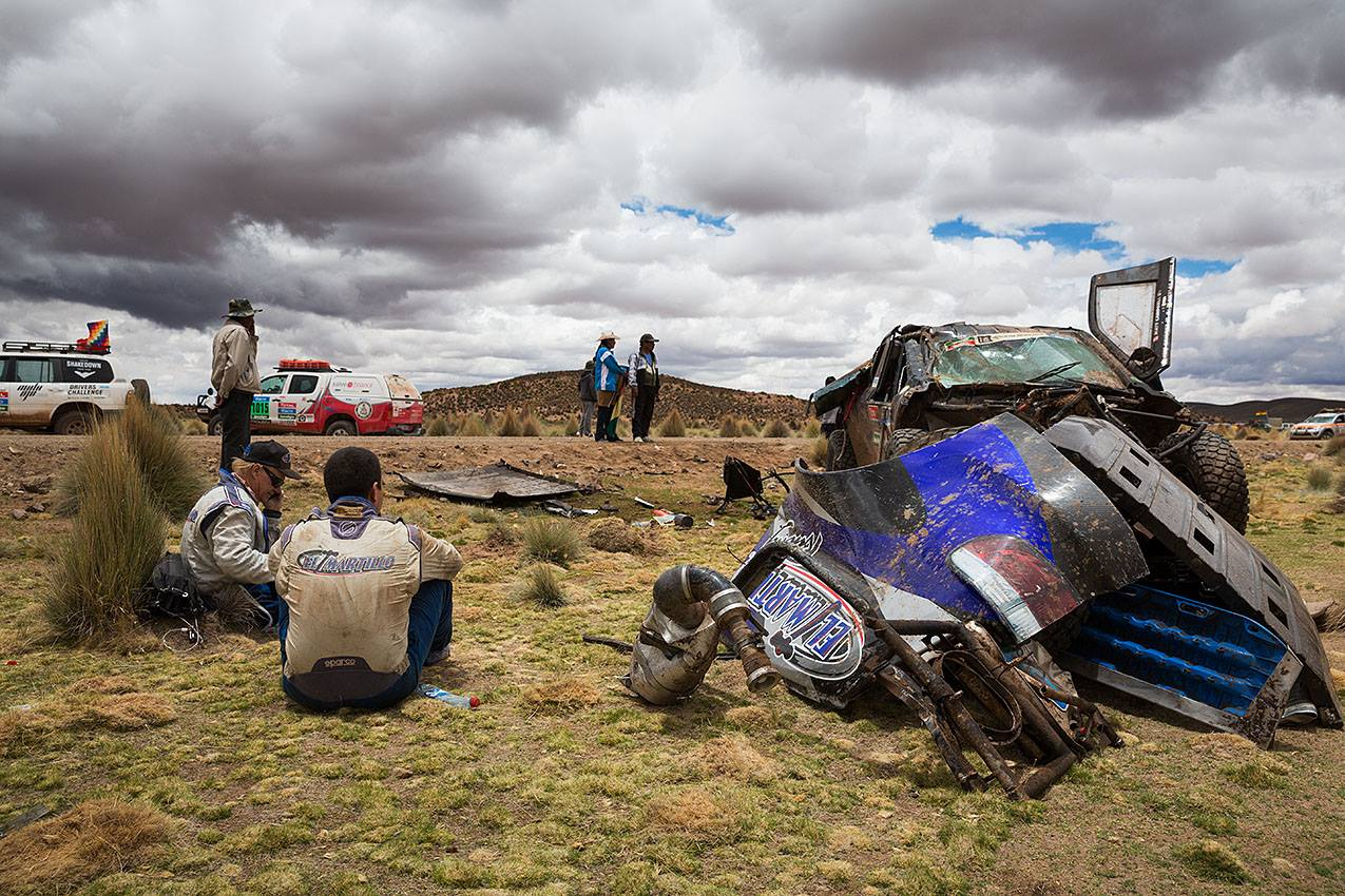 Nehoda na Rallye DAKAR.