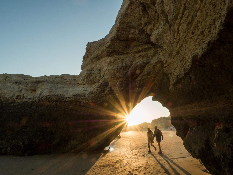 Paprsky při západu slunce
