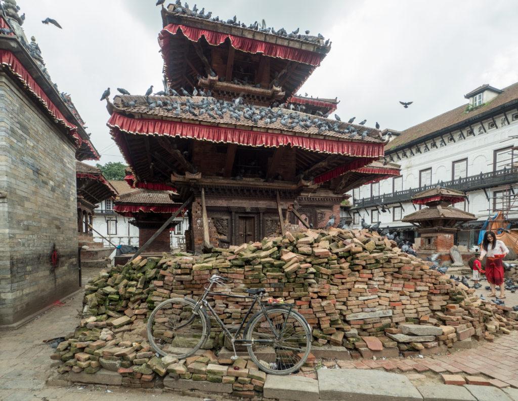 Kathmandu po zemětřesení