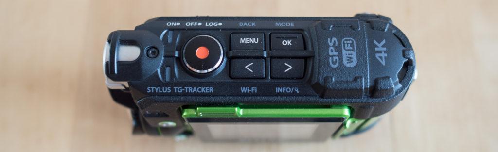 ovládací tlačítka TG-Trackeru