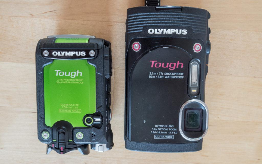 srovnání kamery TG-Tracker a fotoaparátu TG-850