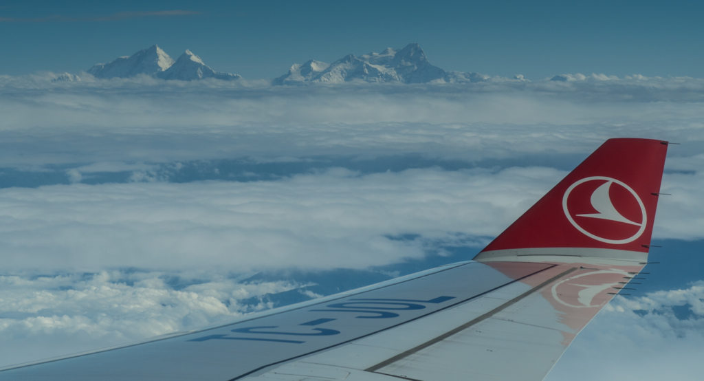 Hory z okénka letadla