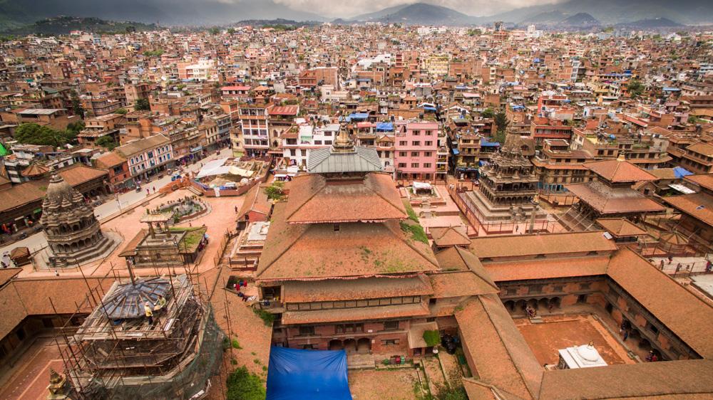 Letecké záběry z Nepálu