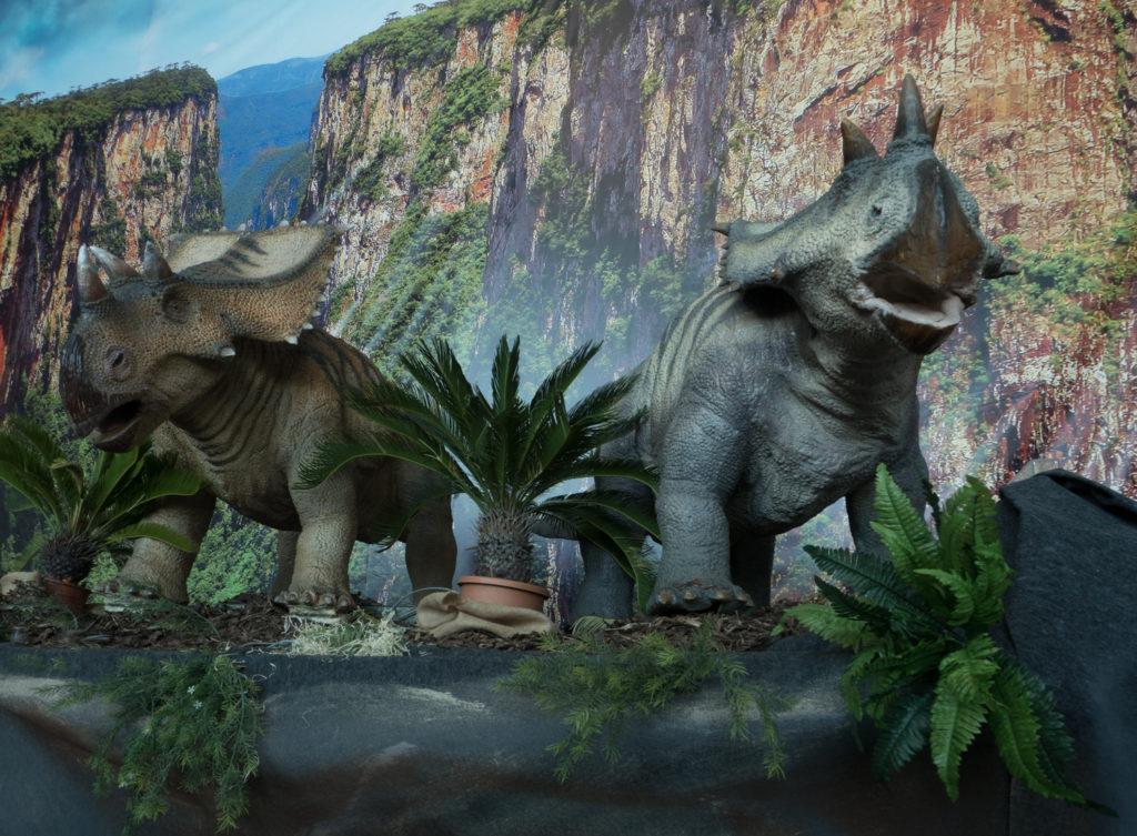 Dinosaurus na výstavě v Technickém muzeu v Brně.
