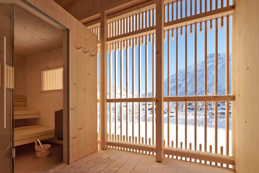 Sauna a sníh v Mellau