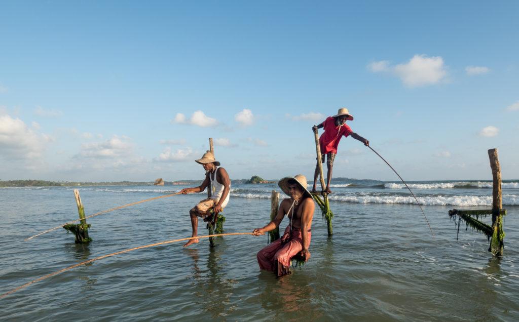 Srílanští rybáři.