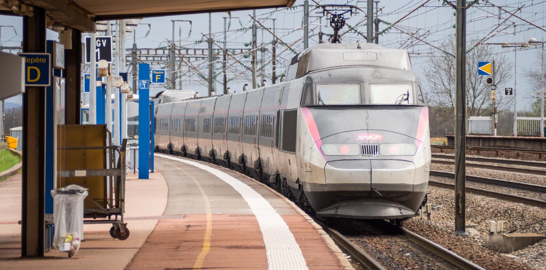 Souprava vlaku TGV.