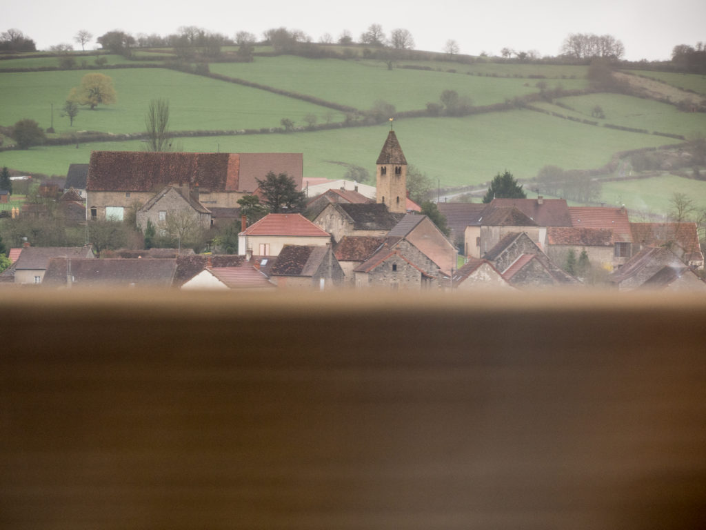 Krajina z okna vlaku TGV