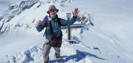My Lost Hat na vrcholu Grossvenedigeru.
