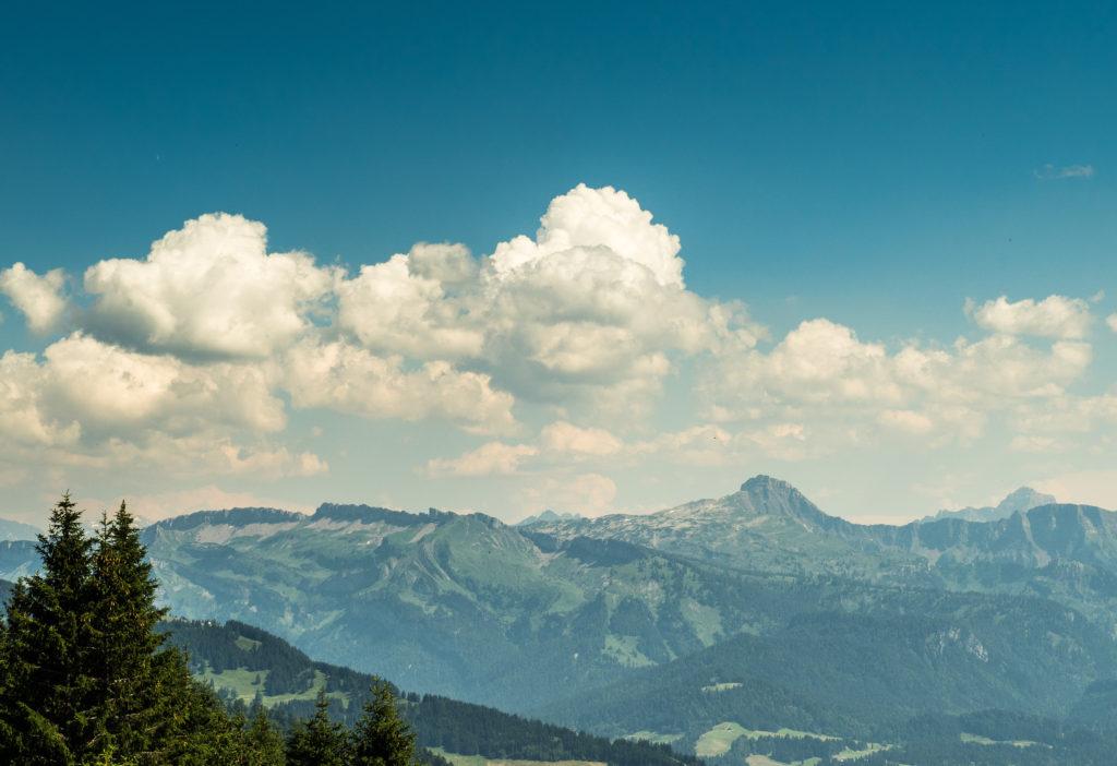 Kopce Bregenzského lesa.