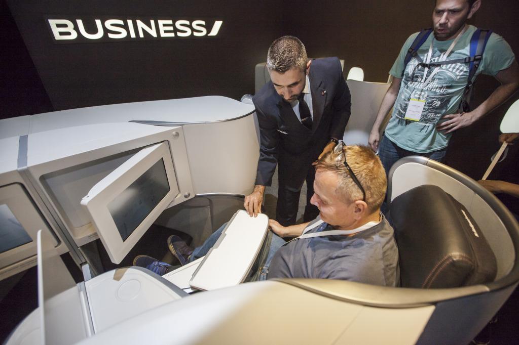 Novou business třídu v letadlech Air France představily aerolinky už v květnu na výstavě k 80. letům AF v Šanghaji. Foto: Tomáš Hájek