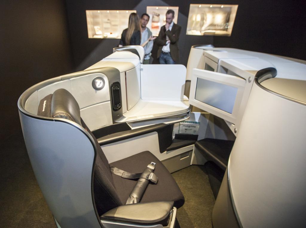 Novou business třídu Air France představily aerolinky už v květnu na výstavě k 80. letům AF v Šanghaji. Foto: Tomáš Hájek