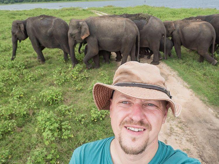 V kloubouku selfie na Srí Lance.