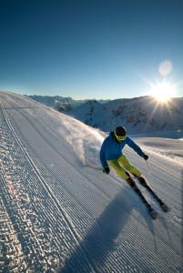 Takhle vypadá lyžovačka v ranním slunci - Nova Exklisiv. Foto: Michael Junginger/Vorarlberg Tourismus