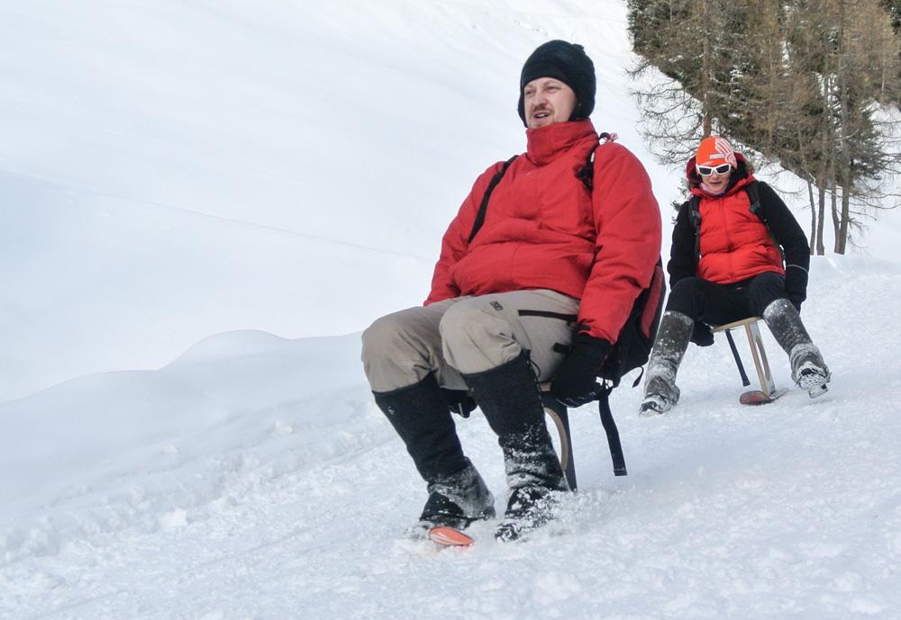 Svištět si to z kopce v Jižním Tyrolsku na Böklu není žádná sranda!