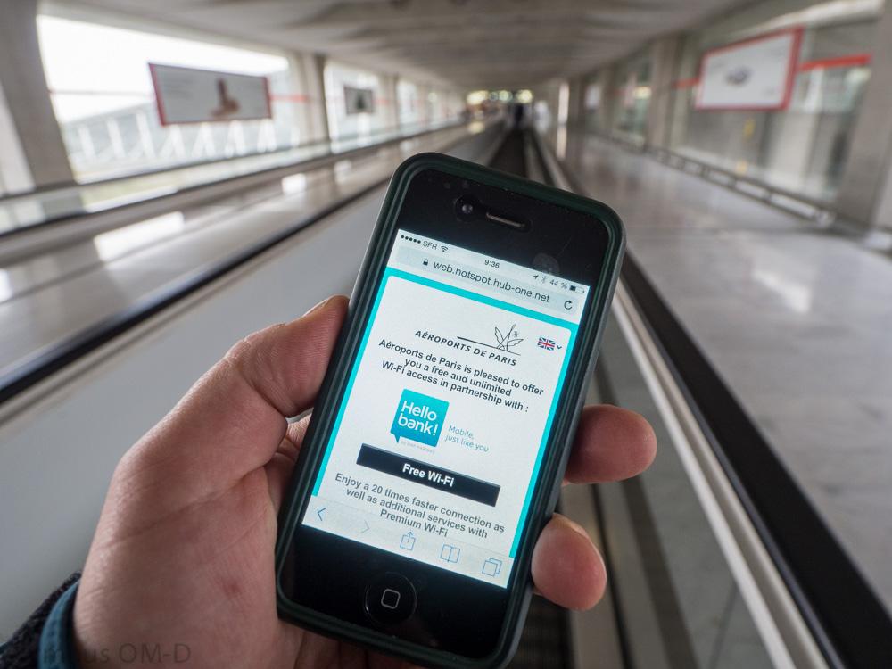 mobil s připojením na wifi
