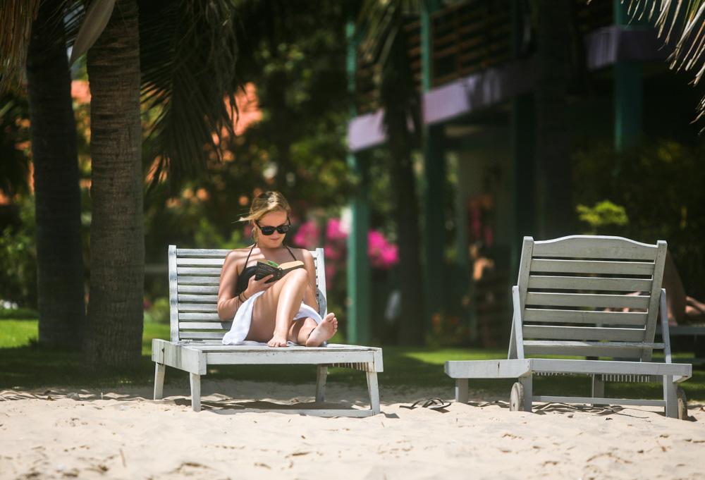 Lenošení na pláži. I to je program pro méně spotovně založené v Mui Ne.