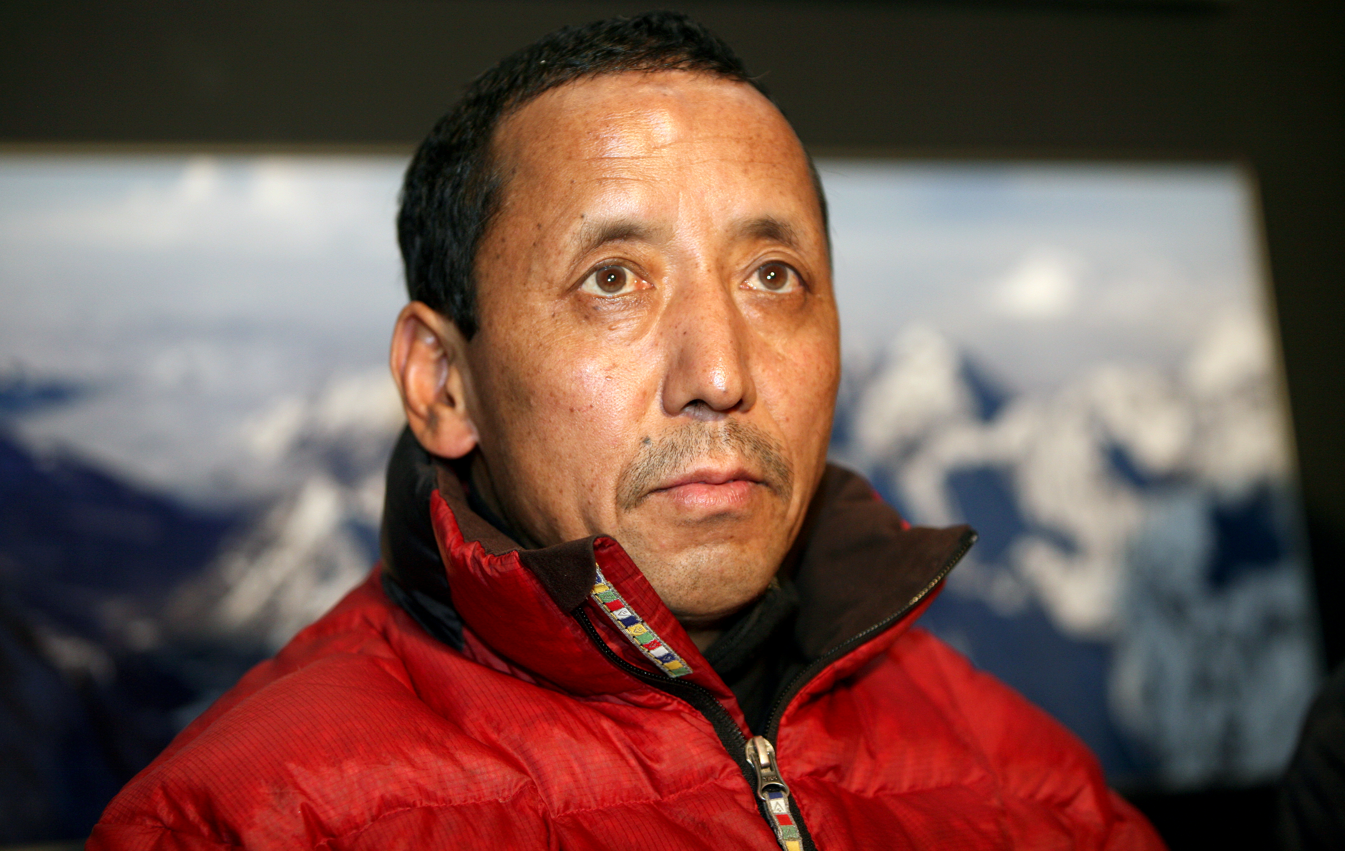 Nepalese sherpa mountaineer Apa Sherpa visit on November 23, 2009 in Lednice, Czech republic. Man reach the summit of Mount Everest 21 times more than any other person.