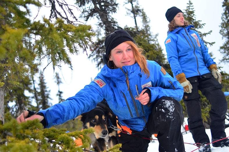 Martina Gebarovská a Veronyka Ginger Jelinek v závodě Fjällräven Polar. Foto: Petr Tůma