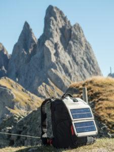 Solární panel v horách jižního Tyrolska.
