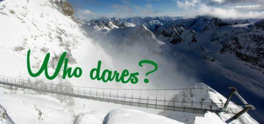 vistuý most v zasněžených horách
