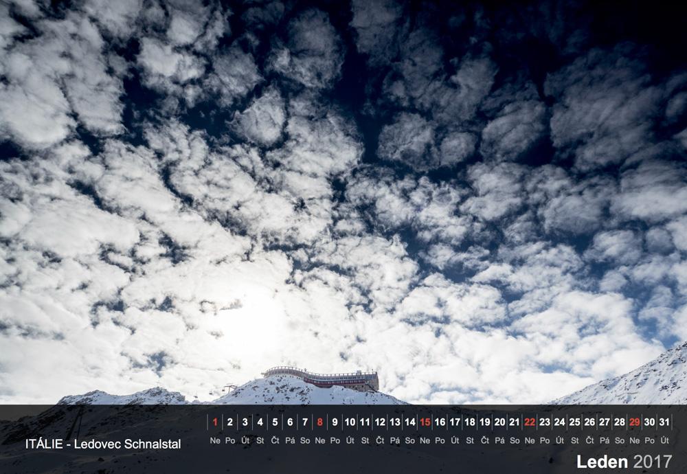 Ledovec Schnalstal, Jižní Tyrolsko.