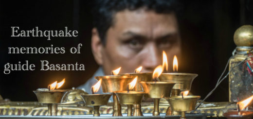 Svíce v chrámu v Kathmandu