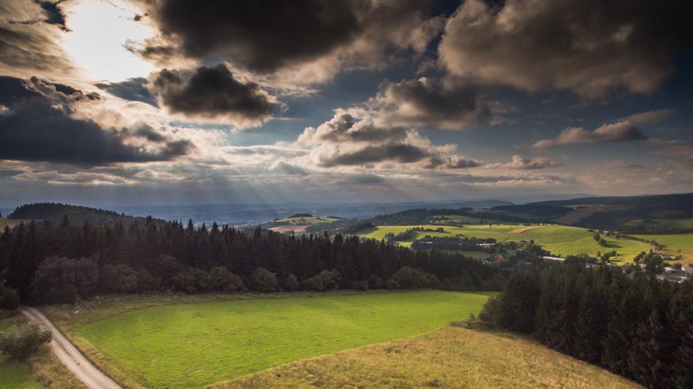 Letecké záběry Orlickch Hor