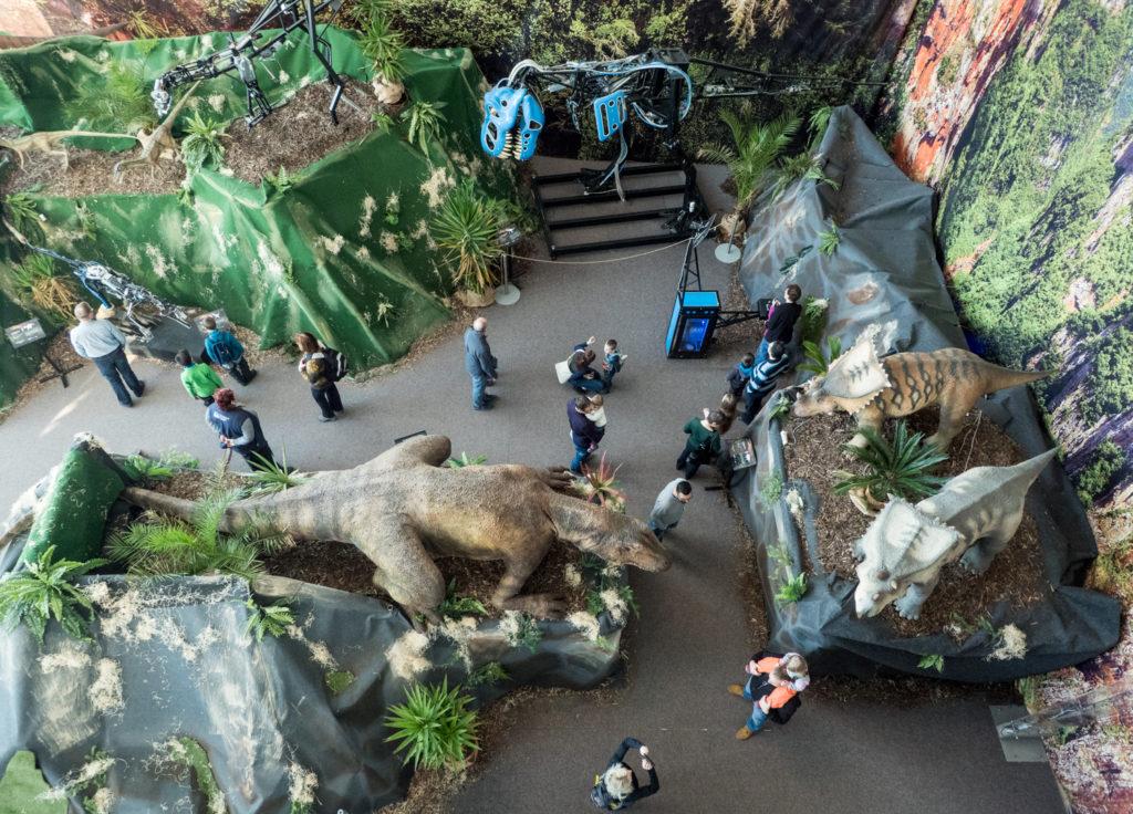 Výstava Dinosauři na řetězu v Technickém muzeu v Brně