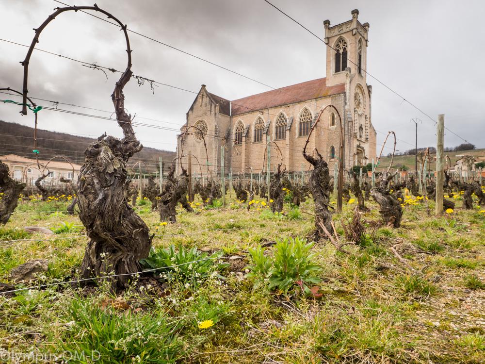 Kostel ve vesnici Roche de Slutré.
