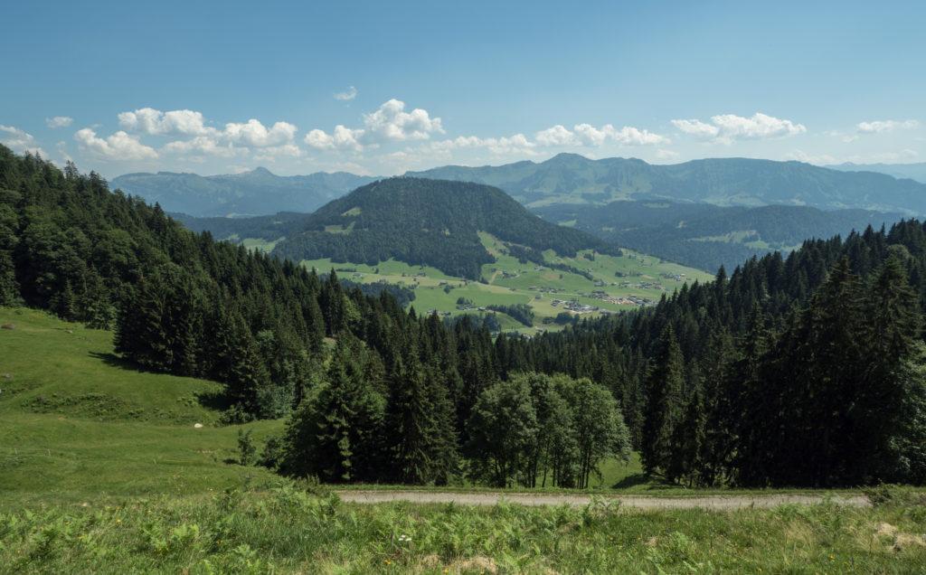 Pohled do Vorarlberska z Německé hranice.