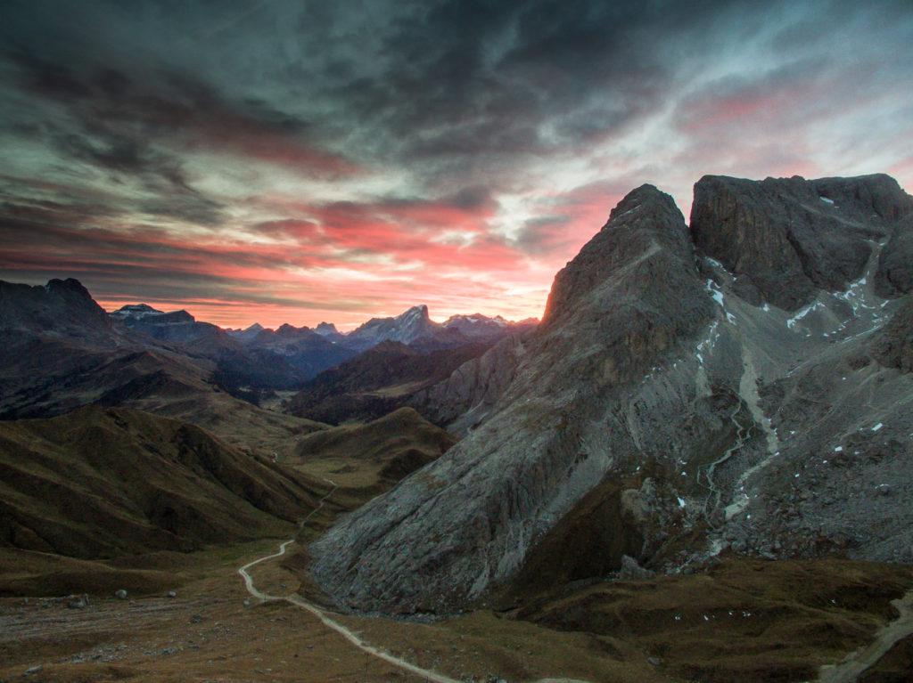 Svítání v Jižním Tyrolsku