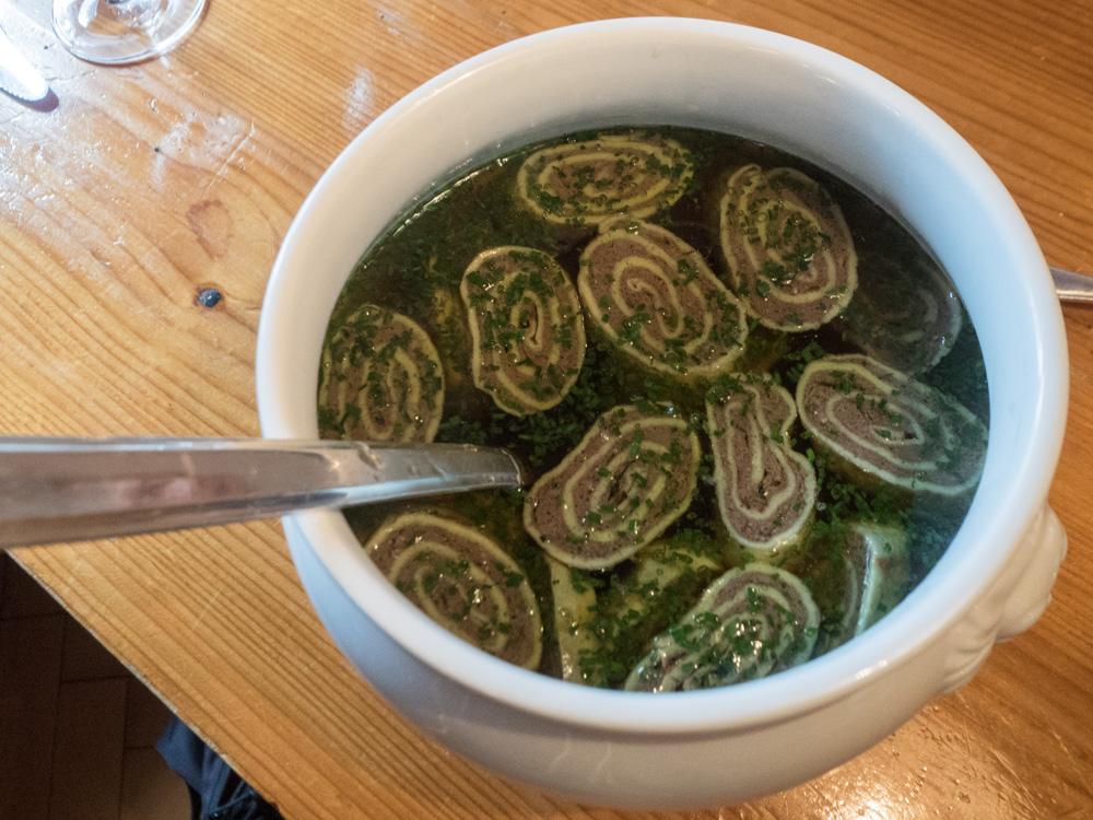 Tradiční vorarlberská polévka